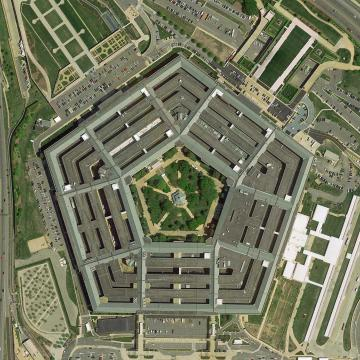 Arial view of the Pentagon building in Washington D. C.